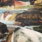 Schilderij 1x1m, Rivier