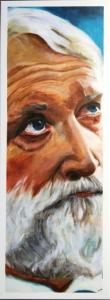 Schilderij Rabbijn Soetendorp, 80x30cm, acryl op doek